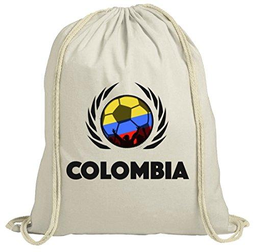 Colombia Wappen Soccer Fussball WM Fanfest Gruppen Fan natur Turnbeutel Gym Bag Fußball Kolumbien Natur