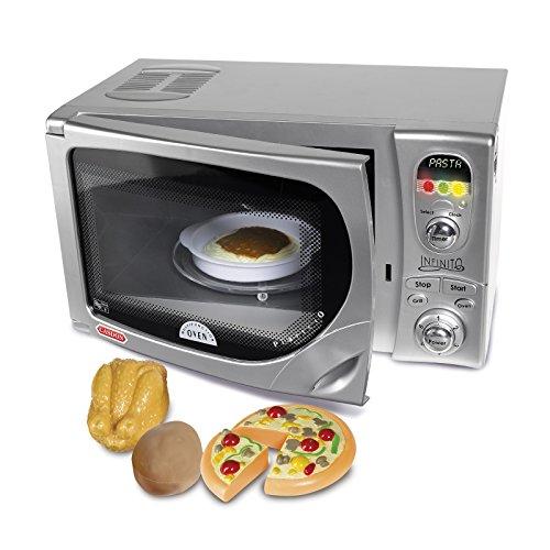 Spielzeug Mikrowelle DeLonghi mit realistischen Geräuschen und Licht • Kinder Küchengeräte Ofen für Küchen Zubehör Kochen