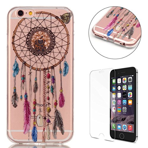 iphone-6-6s-47-inch-silicone-gel-case-with-free-screen-protectorcasehome-crystal-clear-shock-proof-s