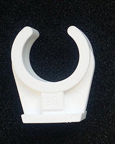 Preisvergleich Produktbild Rohrclip Kunststoffrohrschelle für Kupferrohr Ø 10mm einfach, Höhe 20,5mm, Kunststoff Rohr Schelle für Kupferrohr, Kunststoffrohr, Rohr