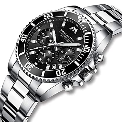 Herren-Uhr-Mnner-Chronographen-Sport-Militr-Edelstahl-Wasserdicht-Armbanduhren-Outdoor-Mode-Analoge-Quarzwerk-Uhr-fr-Mnner-Jungen-mit-Schwarzem-Zifferblatt