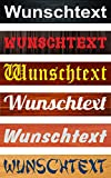 Schild Wunschtext Wunschname - 52x11cm - 10 Designs + 10 Schriften + Bohrlöcher Aufkleber Hartschaum Aluverbund -S00154B
