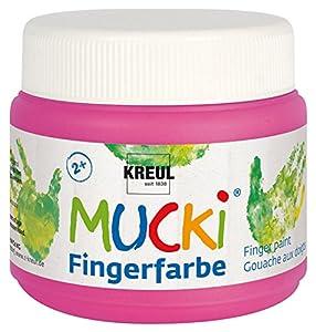 Mucki 23127-Dedos Color quietsch, 150ml, Color Rosa