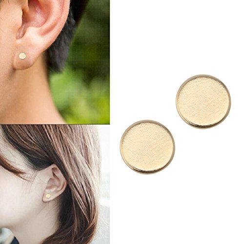 Dairyshop 1 Paar Gewichtsverlust Ohrringe Stimulating Acupoints Magnetfeldtherapie -Ohrringe (Gold)