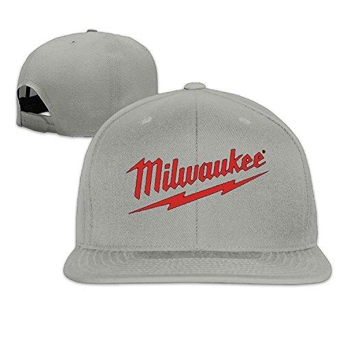 Funny Caps Power Tool Logo Milwaukee Father's Day Gift Unisex Unisex Adjustable Popular Curved Visor Baseball Cap Polo Style Design Ash