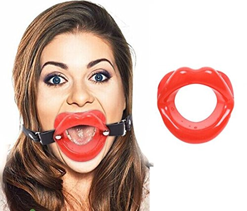 OnundOn Silikon Mundknebel Ring Ball Gag (Rot)