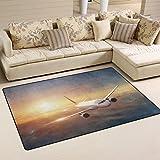 coosun Flugzeug in the Sky at Sunset Bereich Teppich Teppich rutschfeste Fußmatte Fußmatten für Wohnzimmer Schlafzimmer 78,7x 50,8cm, Textil, multi, 60 x 39 inch