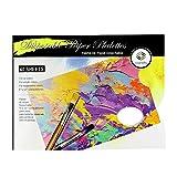 Palette Paper CONDA - Almohadillas desechables para paleta con 40 hojas para acuarelas, acrílico, 30 x 23 cm