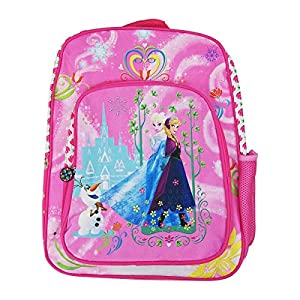 Mochila Infantil Frozen,Mochila Niña,Adaptable Carro,Color Rosa,43 x 34 x 15 cm