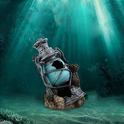 Comaie Hausgarten Neuheit Dekorationen Dekoration für Ornamente Einrichtungsgegenstände Leuchtturm Handwerk Ornamente Mini Modellierung Aquarium und Aquarium Landschaftsgestaltung Flucht Höhle Fische