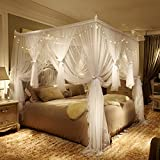 Verdicken verschlüsselung moskitonetz,1.5m 1.8m 2m bett court netze Doppelte vorhänge netting prinzessin wind Europäischen kleinen luxus quadrat netting-vorhänge-A Queen1