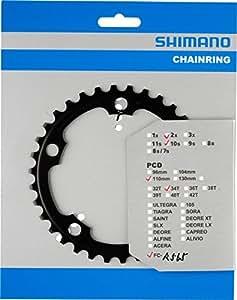 SHIMANO pLATEAU 34 dENTS-nOIR-r565 kETTENBLAETTER rOAD fC fC-r563 aRT nO y-1MT34010