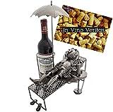BRUBAKER Portabottiglie da vino regalo - vacanziere