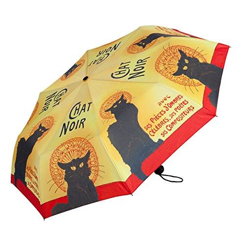 VON LILIENFELD Regenschirm Taschenschirm Automatik Damen Herren Kunst Motiv Katze: Chat Noir