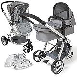 TecTake 3 en 1 Poussette Canne de Voyage Voiture d'Enfants Baby Confort Jogger -...