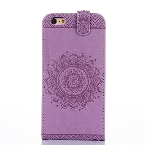 Hülle iPhone 6S plus Schutzhülle iPhone 6 plus,SainCat iPhone 6/6S plus Case Ledertasche Brieftasche im BookStyle, iPhone 6/6S plus PU Leder Wallet Case Folio Schutzhülle Hülle Lederhülle Bumper Handy Licht lila