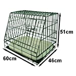 Ellie-Bo Deluxe Sloping Puppy Cage Folding Dog Crate with Non-Chew Metal Tray Fleece and Slanted Front for Car 11