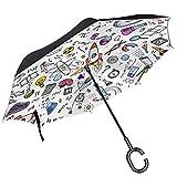 ALAZA física matemáticas astronomía ciencia auxiliar paraguas paraguas de doble capa resistente al viento Reverse