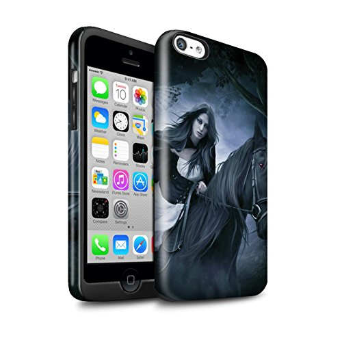 Officiel Elena Dudina Coque / Brillant Robuste Antichoc Etui pour Apple iPhone 5C / Oui Maman/Lion/Petit Design / Les Animaux Collection Trois dans la Nuit
