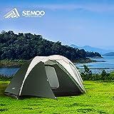 Semoo Family wasserdichtes Campingzelt, 3-4 Personen, 4 Jahreszeiten, 320 x 240...