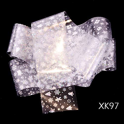 LCFCJK Nagel-Aufkleber Schneeflocke Stern Aufkleber Nagel Dekoration Applique DIY Dekoration Werkzeug Kunst Design Wasserzeichen Nail Sticker (10 Fotos), A4