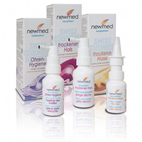 newmed Sparset HNO (30ml/30ml/20ml)   Optimal Pflege und Reinigung von Hals, Nase und Ohr   Swiss Quality