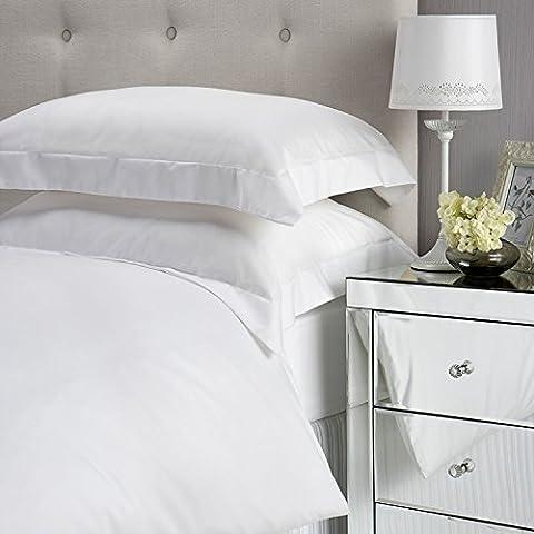 Charisma Double 100% Cotton 400 Thread Count Duvet Set Bed Linen, White