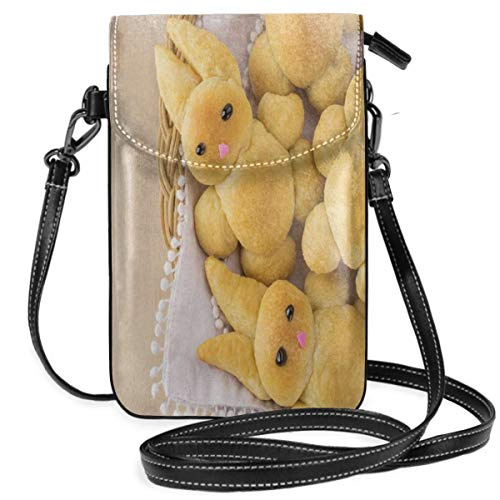 ll Phone Purse Crossbody,Photo Of Cute Homemade Rabbit Cookies For Holiday Festive Delicious Time Art ()