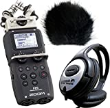 Zoom H5 Handy Recorder + keepdrum Fell-Windschutz WSBK + Stereo Kopfhörer