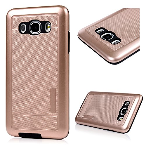 Clear Skin Armband (J5 2016 Hülle Samsung Galaxy J5 2016 Case Cover YOKIRIN Premium Dual Layer Schutz Case Cover Hart PC Hardcase + Innere Flexibel TPU Silikon Case Schutzhülle Handyschale Handyhülle Skin Handytasche Farbe:Rose Gold)