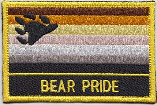 Parche rectangular con bandera de arcoíris y Bea Pride, bordado