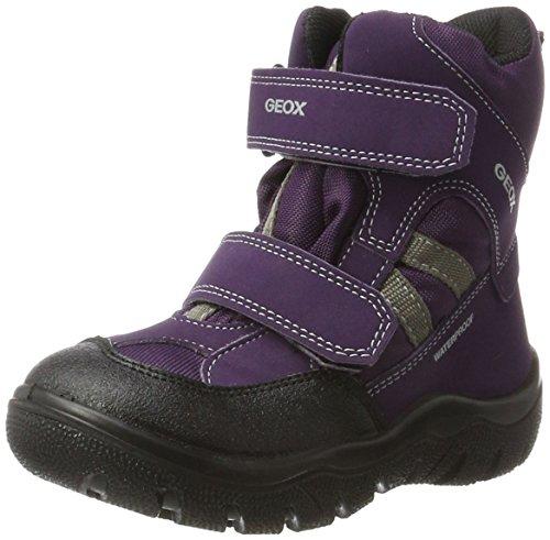 Geox Mädchen J Clady Girl B Wpf A Schneestiefel, Violett (Dk Purple/Grey), 34 EU