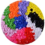 New 150 Sets of KAM Size 16 T3 Plastic Button Fastener Snap Studs Snaps Resin Poppers Pop Fasteners 10 colors