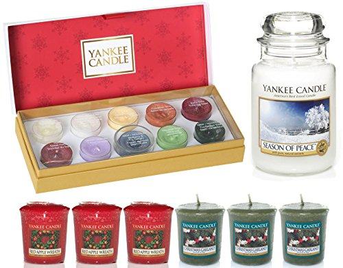 Oficial Yankee el regalo perfecto de Navidad incluye vela de té, vela y grandes velas en tarro