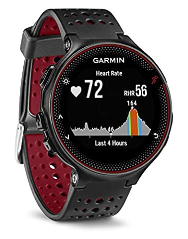 Garmin Forerunner 235 GPS Running Watch with Elevate Wrist Heart Rate and Smart Notifications - Black/Marsala