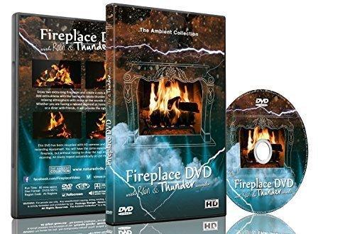 Feuer DVD - Kaminfeuer mit Regen und Donnergeräuschen (Feuchtigkeit Designs)