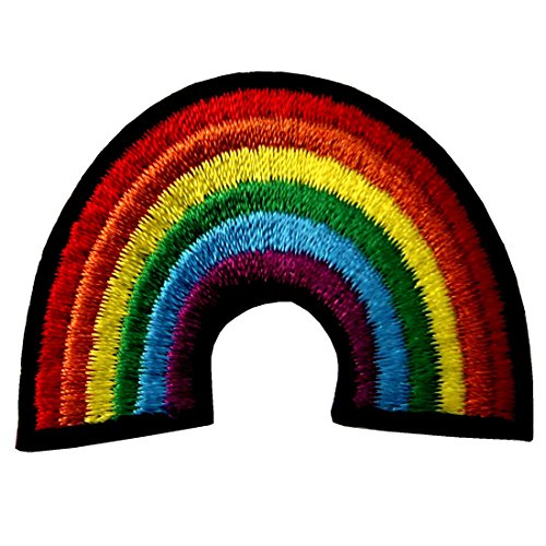 (Gay Pride Lesbian Regenbogen Flagge Retro Liebe LGBT Appliques Besticktes Eisen Auf Nähen Auf Patch)