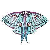 Elecenty schmetterling Schal Kostüm, Frauen Schmetterling Flügel Wickel Schals Damen Nymphe Pixie Poncho Kostüm Zubehör für Show / Daily / Party 185*145CM (185 * 145cm, Grün)