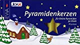 High quality Pyramid-candles natural colors - D=1,4 cm (0,55 inc - Authentic German Erzgebirge Christmas Pyramids - Müller Kleinkunst