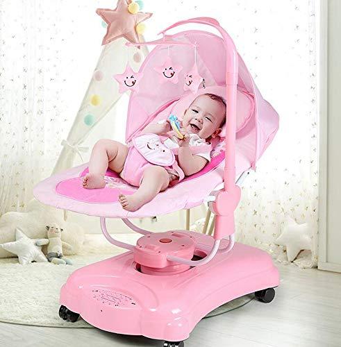 Imagen para CWLLWC hamacas Bebes babybjorn,Eléctrico oscilante del Eje de balancín bebé automático Inteligente coctelera Swing guardaespaldas Silla de bebé