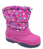 Spirale Maja Mädchen Winterstiefel, Schneestiefel für Kleinkinder, Kinder Schlupfstiefel, Canadian Boot, Warm gefüttert, Wasserabweisend Pink (Fuxia (084)), EU 27