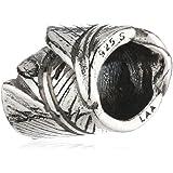 TrollBeads Damen-Bead Feder 925 Sterling Silber TAGBE-10017