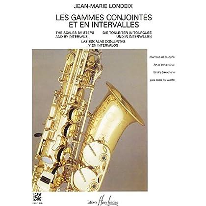 Gammes conjointes et en intervalles pour tous les saxophones.