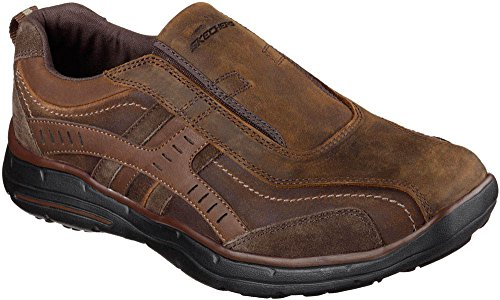 Skechers Fit Relaxed Patins Roemer Slip On Dark Brown