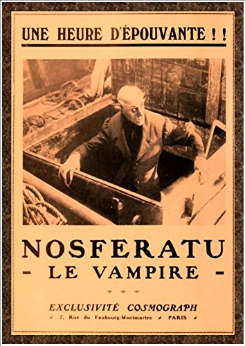 Fantastic A4 Glossy Print - 'Nosferatu - Le vampire' 1922 - Taken from A Vintage French Movie Poster