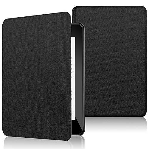 ELTD Hülle für Kindle Paperwhite 10,Ultra Lightweight Flip mit Eingebautem Magnet PU Leder Hülle für Amazon Kindle Paperwhite 10,Generation-2018 [Schwarz]