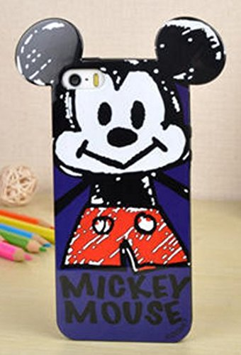 Coque BUMPER de qualite IPHONE 5/5s - Tic Tac donald dingo daisy minnie oreilles design Swag DESIGN case+ Film de protection OFFERT 5