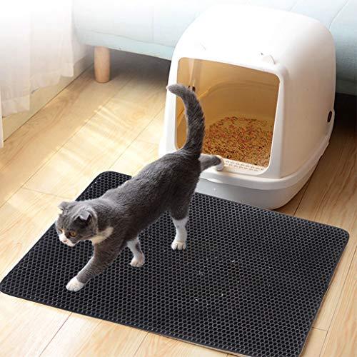 Haven shop Katzenstreu Matte, 4 Größen, doppellagig, wasserfest, Rutschfest, Bodenschutz, Wabenschutz, Fütterung aus Eva-Schaumstoff -