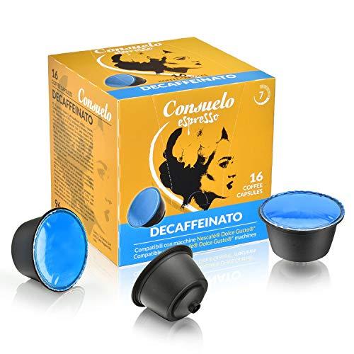 Consuelo -  cápsulas de café compatibles con Dolce Gusto* - Descafeinado, 96 cápsulas (16x6)