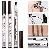 NEEDOON Augenbrauenstift 2018 NEUE 3D Augenbraue Langlebige Farbton Creme, Wasserdicht, wischfest (dunkelbraun)